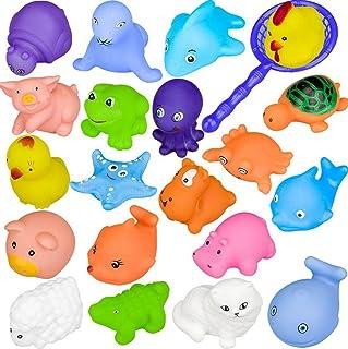 Bagno Giocattolo Galleggiante 1 Rete da Giochi Rete da Pesca 18 Diversi Animali 19 Pezzi Giocattolo della Vasca da Bagno dei Bambini Giocattoli Infantili Bambini Giochi per Il Bagnetto