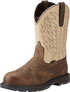 حذاء عمل ARIAT رجالي جراوند بريكر من الصلب عند الأصابع بني