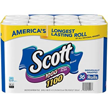 Scott Bath Tissue, 1, 100 Sheetsper Roll, 36 Count