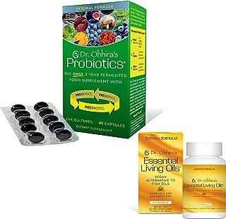 Dr Ohhira's Probiotics Original Formula – Dr. Ohhiras Probiotics (60 Caps) Plus Vegan Omega Oils (3/6/9) Bonus