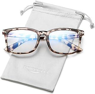 Blue Light Blocking Glasses Men Women Nerd Computer Gaming Eyeglasses, Safety Protective Lens Optical Frames, Fake Glasses