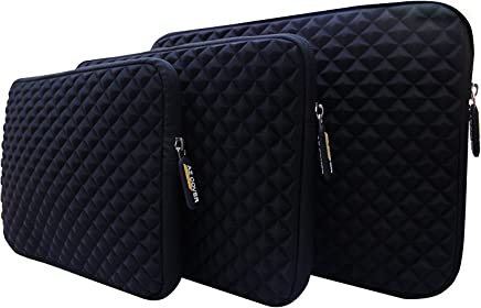 "AZ-Cover AZ-Cover 13.3-Inch Simplicity Stylish Diamond Foam Shock-Resistant Neoprene Sleeve (BLACK) For Onyx BOOX MAX 13.3"" E Ink Pearl Display + One Capacitive Stylus Pen"