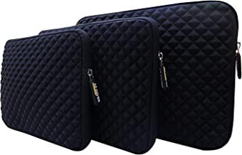 AZ-Cover 11.6-Inch Simplicity Stylish Diamond Foam Shock-Resistant Neoprene Sleeve (BLACK) For Samsung XE700T1A-A06US Series 7 Slate Tablet PC + One Capacitive Stylus Pen