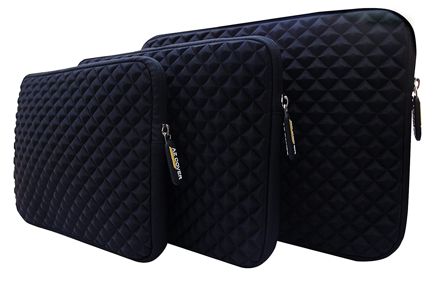 AZ-Cover 11.6-Inch Simplicity Stylish Diamond Foam Shock-Resistant Neoprene Sleeve (Black) For CUK Lenovo N21 11.6-inch Celeron N2840 2GB 16GB SSD Chrome OS Laptop Chromebook