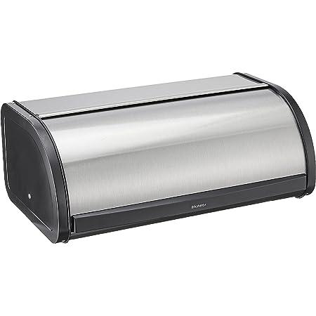 Brabantia Roll Top Bread Box, Matt Steel Fingerprint Proof Color - Large