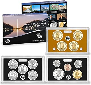 2013 S U.S. Mint 14-coin Silver Proof Set - OGP box & COA Proof
