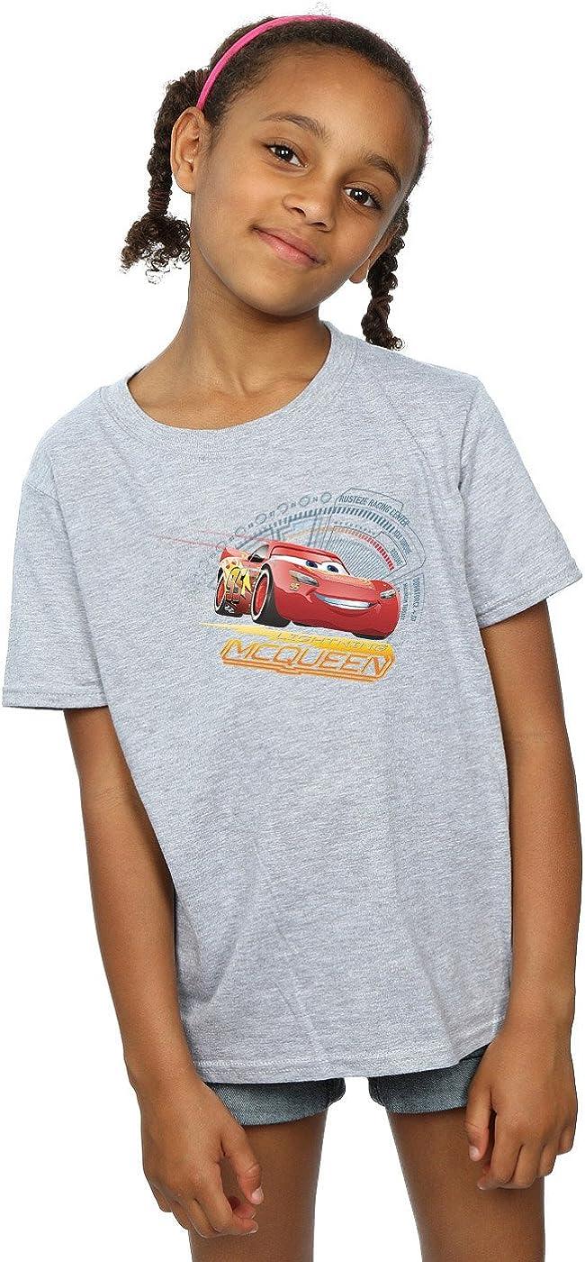 Disney Girls Cars Lightning McQueen T-Shirt 7-8 Years Sport Grey