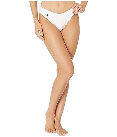 Polo Ralph Lauren Ribbed Modern Solids Rib V-Pant Bottoms (White) Women
