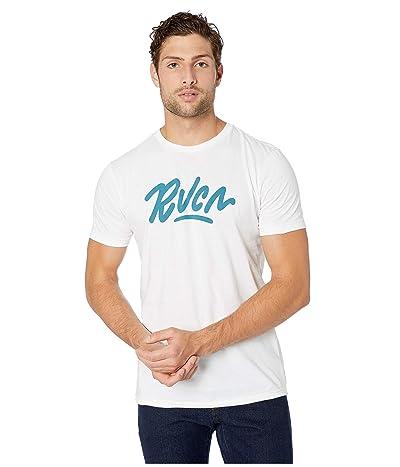RVCA Flow Short Sleeve T-Shirt (White) Men