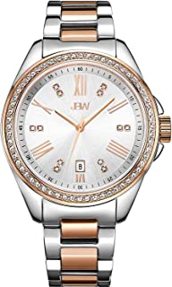 JBW Watch for Women Studded with 12 diamonds, Stainless Steel Band - J6340C
