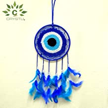 Crystu Evil Eye Dream Catcher Wall Hanging for Positive Energy and Protections 35 x 15 cm Approx