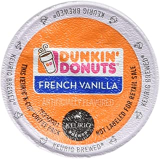 Dunkin Donuts French Vanilla Flavored Coffee K-Cups For Keurig K Cup Brewers - 32 Pack (Packaging may vary)