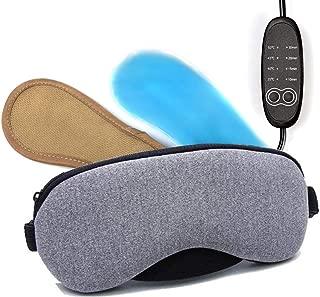 ホットアイマスク,thsgrt【最新改良版】USB電熱式 熟睡 蒸気 安眠 遮光 温度調節 四段階温度調整 繰り返し 仕事 ドライアイ 睡眠改善 血行促進 目をリフレシュ スプレーボトルとアイスパック付き 無味