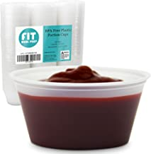 [250 Pack] 3.25 oz BPA Free Plastic Portion Cup - Disposable Jello Shots Sauce Condiment Souffle Dressing Mini Containers, Medicine Cups No Lids