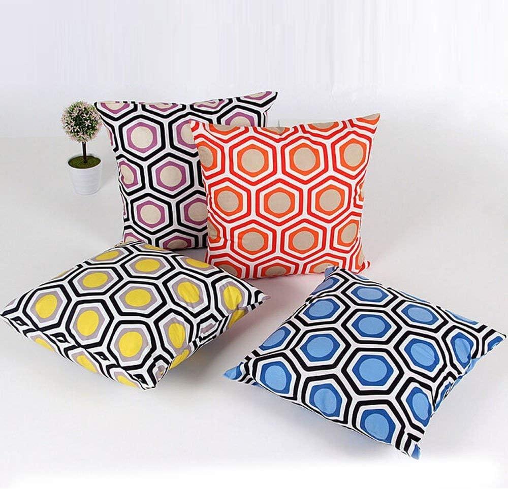 Forme géométrique Taie d'oreiller Style Frais Glitter Coton Canapé en Lin Throw Housse de Coussin décor à la Maison (Couleur: Bleu) Orange