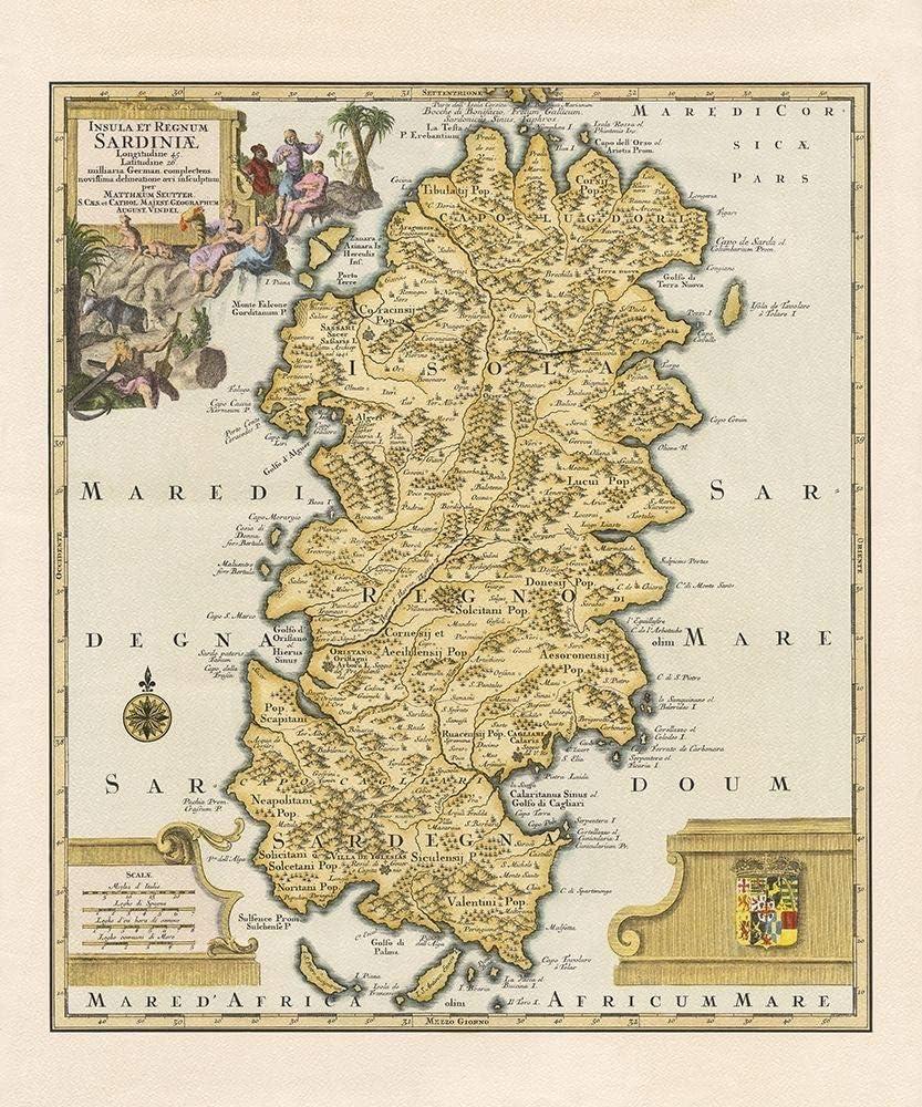 Cartina Sardegna Antica
