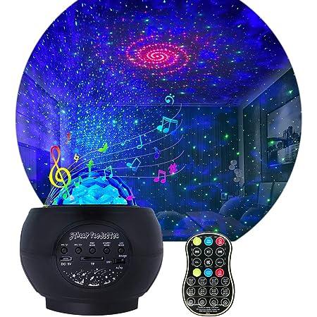 Amazon Com Proyector De Luz Nocturna Para Niños Proyector Galáctico Ajustable Con 27 Modos De Iluminación Con Control Remoto Y Altavoz De Música Bluetooth Luces De Estrellas De Olas Oceánicas Para El Techo