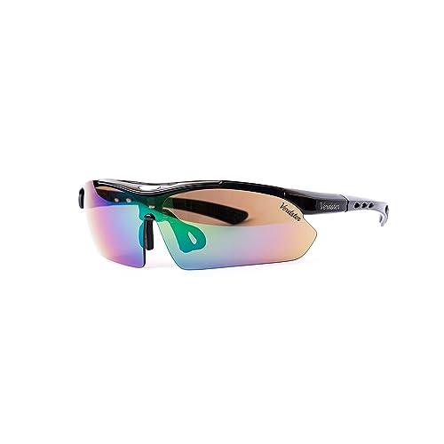 b3d9c9dedcf Verdster TourDePro Polarized Cycling Sport Sunglasses For Men and Women 5  Lenses
