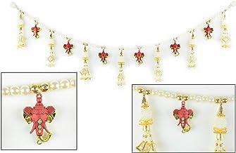 Diwali Special Metal Toran / Thoranam Door Hanging with Gold and Red Ganesha / Ganpati..