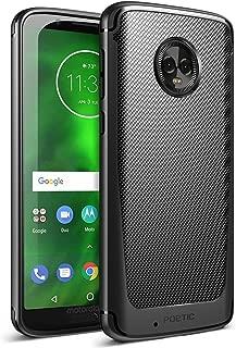Moto G6 Case, Poetic Karbon Shield [Shock Absorbing] Slim Fit TPU Case with [Carbon Fiber Texture] for Motorola Moto G6 Black