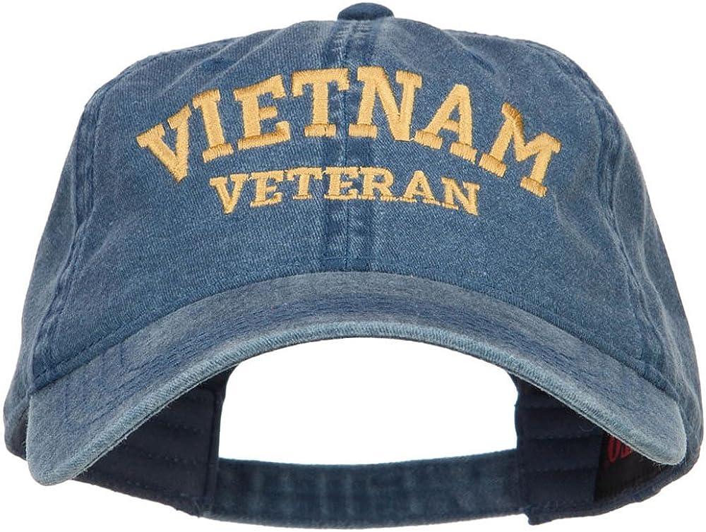 e4Hats.com Vietnam Veteran Embroidered Washed Cap