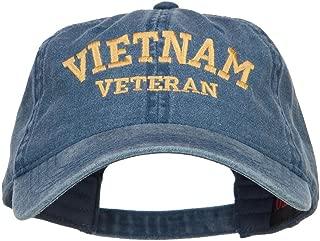 Vietnam Veteran Embroidered Washed Cap