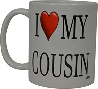 Best Funny Coffee Mug I Love My Cousin Heart Novelty Cup Great Gift Idea For Your Cousin
