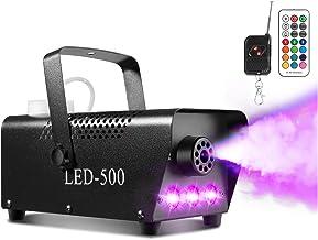 Smoke Machine, AGPTEK Fog Machine with 13 Colorful LED Lights Effect, 500W and 2000CFM..