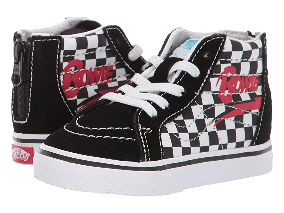 Vans Kids Vans x David Bowie Sneaker Collab (Infant/Toddler) ((Sk8-Hi Zip) Bowie/Checkerboard) Kids Shoes