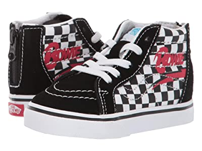 Vans Kids Vans x David Bowie Sneaker Collab (Infant/Toddler) ((Sk8-Hi Zip) Bowie/Checkerboard) Kids Shoes