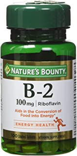 Nature's Bounty Vitamin B-2 100 mg, 100 Coated Tablets (Pack of 4)