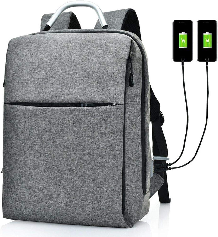 DYR Backpack USB Charging Computer Bag Couple Backpack Large pacity Travel Bag Student Bag Shoulder Bag