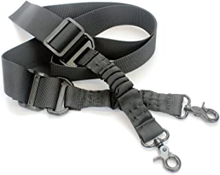 Two Point Rifle Sling by ARMSTAC MX-2 2-Point Battle Gun Shoulder Strap with Steel Clip + Lfetime Warranty