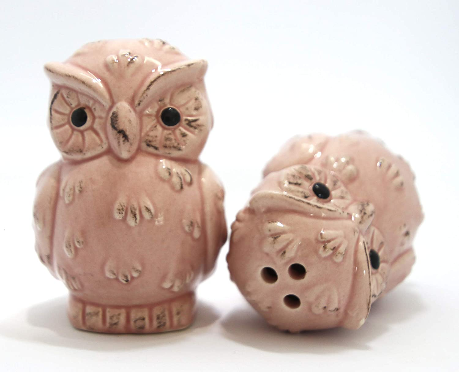Kitchen Utensils Gadgets Bird Theme Restaurant 3 Piece Owl Salt And Pepper Shaker With Tray House Warming Brown Decor Wedding Gift Great For Collectors Favours Boxed Set Perfect