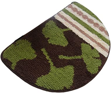 Nonslip Outdoor/Indoor Doormat, Entrance Mat for Home Decor, Green Leaf