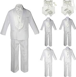 Baby Toddler Boy Formal Wedding Party Tuxedo Suit Pinstripe Taupe Jacket Sm-20