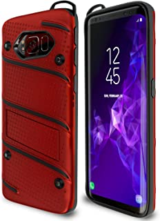 Samsung Galaxy S8 Plus Case | Military Grade | 15Ft. Drop Tested | Protective Case | Kickstand | Shockproof | Wireless Charging | Dual Layer Heavy Duty | Compatible with Samsung Galaxy S8 Plus - Red