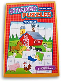 Activity Books Sticker Puzzle Book with 4 Puzzles and 2 Coloring Pages (Barnyard Fun)