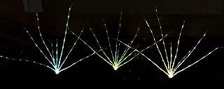 Solar Wholesale 2002 Wild Grass Solar Garden Lights. 3 Sprigs 1.2 Foot Tall Grass (Multi-Color LEDs)