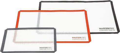 MASTERPRO Fibreglass Silicone Rectangular Baking Mat Set, Multi, (Pack of 3), MPRECTBAKESET