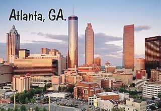 Atlanta, Georgia, Downtown, Skyline, City, Buildings, GA, Souvenir Magnet 2 x 3 Fridge Magnet