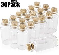 IMIKEYA 50pcs Mini Botellas de Vidrio Tarros de Deseo DIY Botellas de Deseo Transparentes Contenedor de Almacenamiento Botellas de Vidrio de Corcho para Bodas de Mensaje Fiesta de Deseos