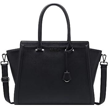17 Inch Laptop Bag for Women,Multi-Pocket Laptop Bag 17 Briefcase Work Tote Bag with Comfortable Shoulder Strap,L0016 Black 17 Inch