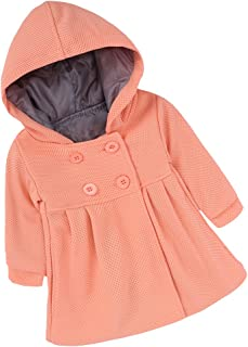 Mary ye Baby Girls Winter Wool Cotton Trench Jacket Warm Hooded Coat Outwear