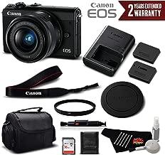 Canon EOS M100 Mirrorless Digital Camera with 15-45mm Lens (Black) 2209C011 International Version - Standard Bundle