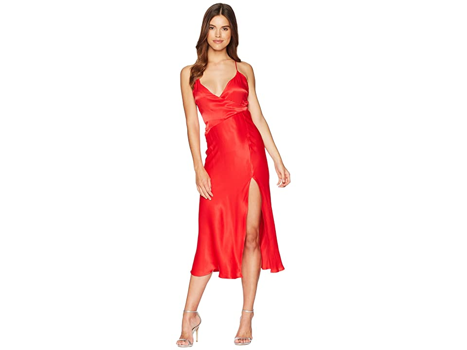 Bardot Wrapped Split Dress (Lava) Women