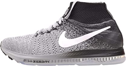 Nike Womens WMNS ZOOM ALL OUT FLYKNIT, Wolf Grey / White - Black, 8 US