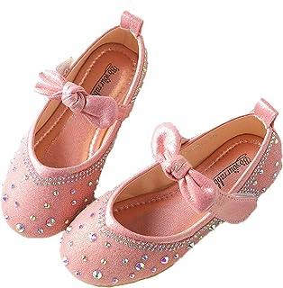Zapatos de Vestir Mary Jane para niñas Zapatos de Princesa Planos con Diamantes de imitación Informales y Ligeros Zapatos ...