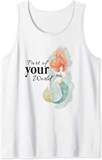Disney Little Mermaid Ariel Your World Watercolor Débardeur