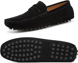 7a2abfdb28df03 Homme Décontracté Mocassin Conduite des Chaussures Slip on Soft Suede Flats  Bateau Taille 39.3-44.7